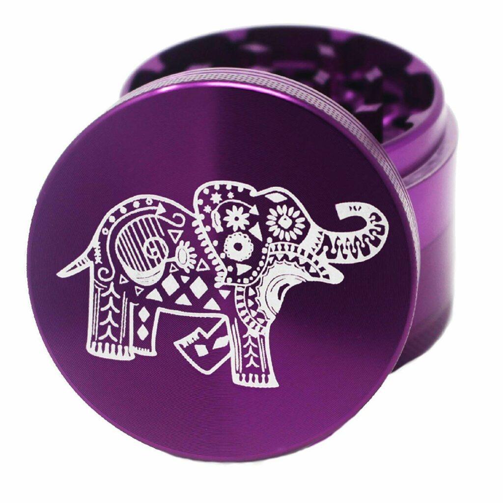 Elephant Laser Engraved Weed Grinder