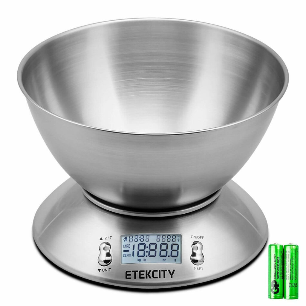 Etekcity Digital Food Scale with Removable Bowl