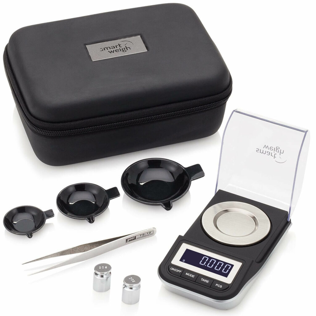 Smart Weigh Premium Digital Milligram Scale with Case