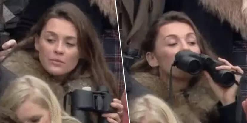 Racing Fan Caught Drinking From Secret Binocular Flask Goes Viral