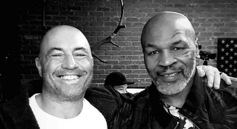 Mike Tyson Gifts Joe Rogan A Special Box Full Of Cannabis Products From His Ranch [Video]