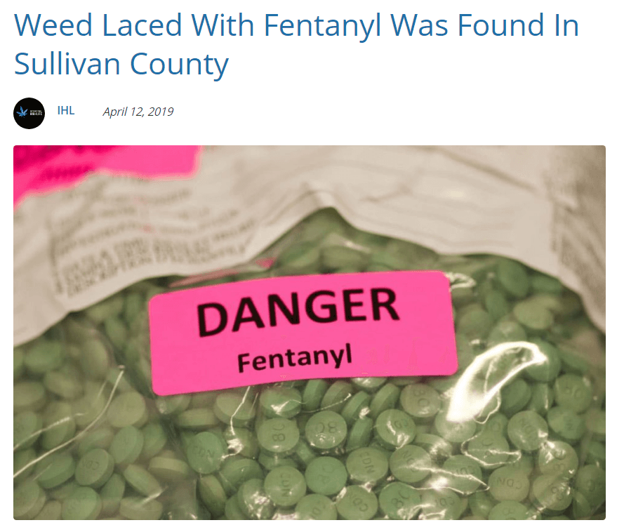 Fentanyl Laced Weed Sullivan County