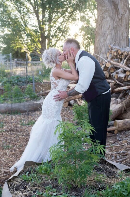 cannabis wedding couple