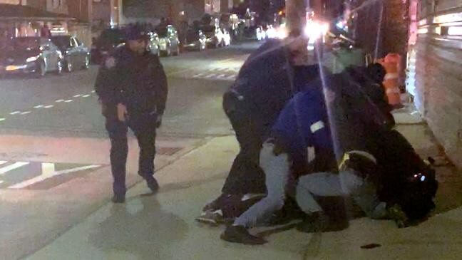 Video Shows 8 NYPD Cops Violently Arresting Black Man Suspected of Smoking a Joint