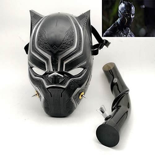 black panther gas mask bong