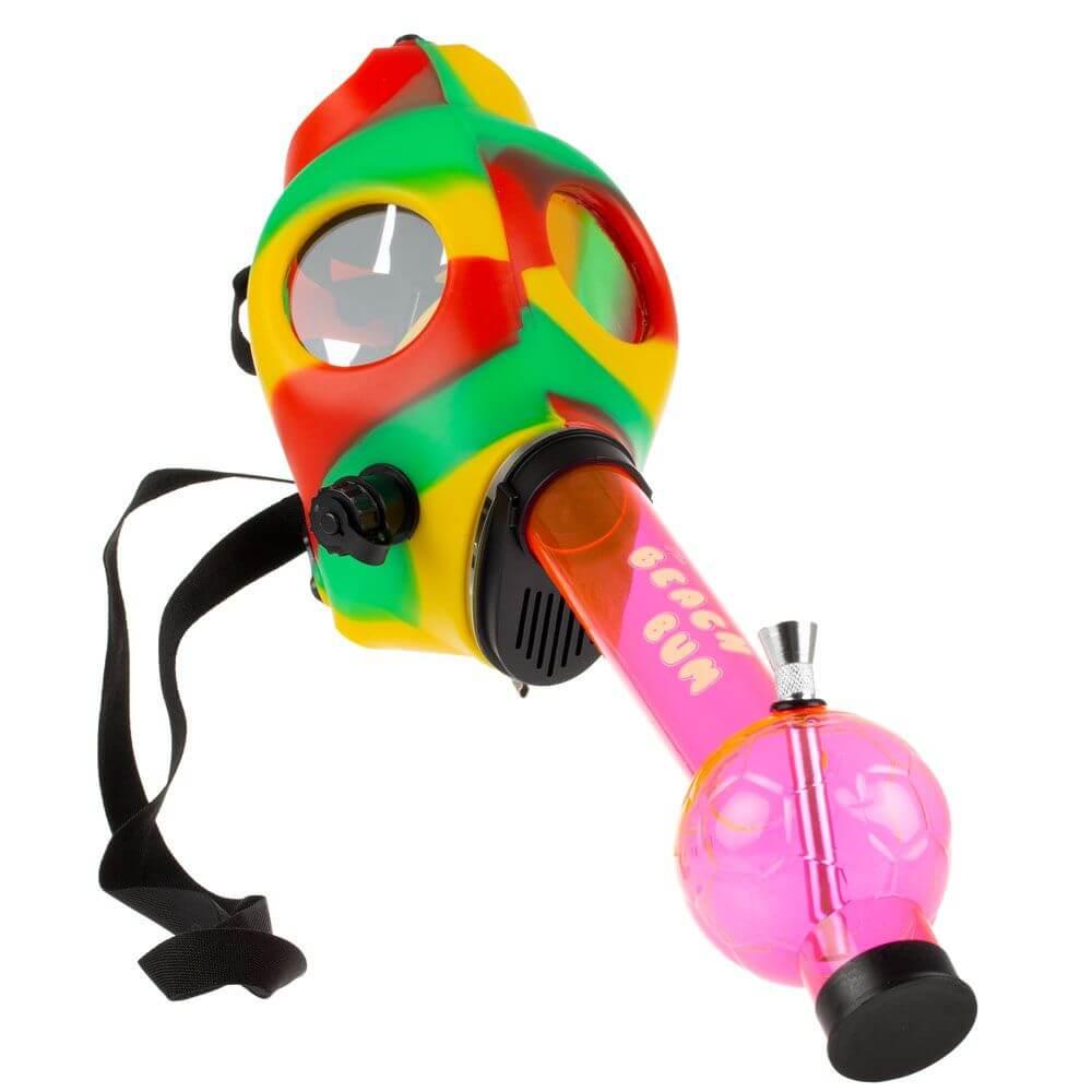 grass city beach bum gas mask bong