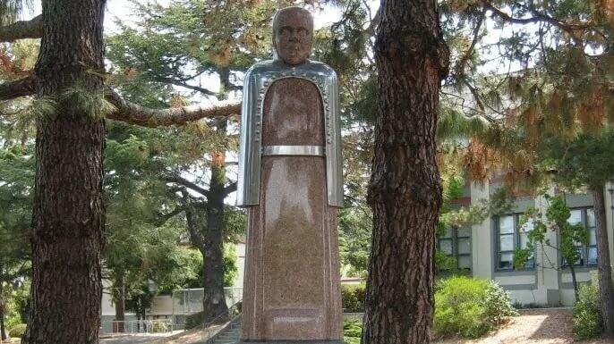 Louis Pasteur statue at San Rafael High School in California