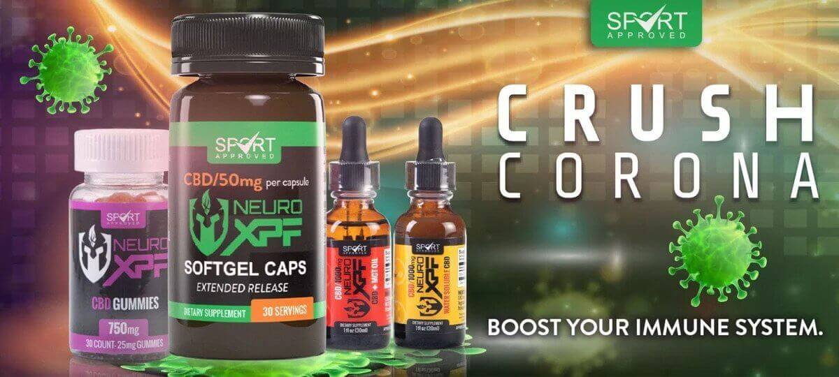 """An ad by Neuro XPF claims the product can """"crush corona"""""""