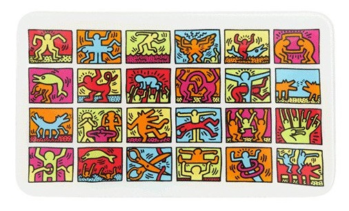 K Haring Glass Rolling Tray
