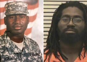 Sean Worsley in the military and in prison